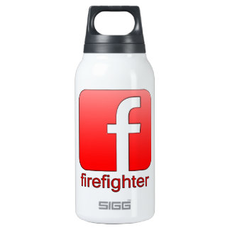 Firefighter Facebook Logo Unique Template Insulated Water Bottle