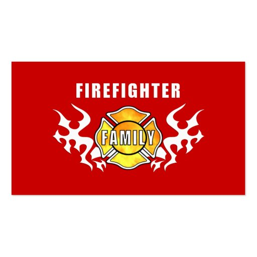 Firefighter Family Double-Sided Standard Business Cards (Pack Of 100)