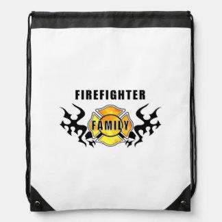 Firefighter Family Drawstring Backpack