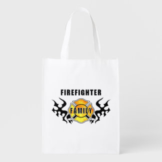 Firefighter Family Grocery Bags