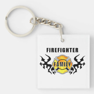 Firefighter Family Keychain