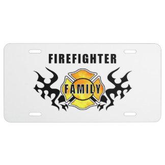 Firefighter Family License Plate