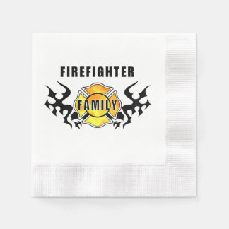 Firefighter Family Disposable Napkins