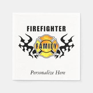 Firefighter Family Paper Napkins