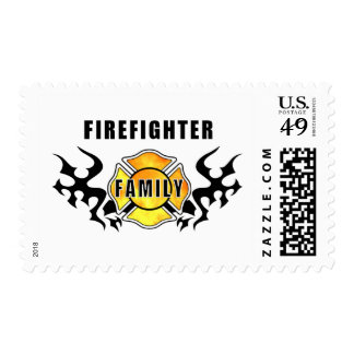 Firefighter Family Postage Stamps