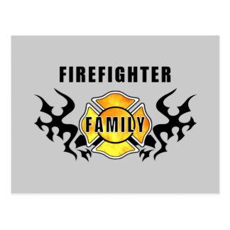 Firefighter Family Postcard