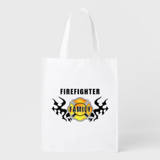 Firefighter Family Reusable Grocery Bag