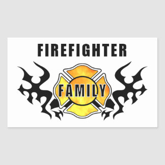 Firefighter Family Rectangle Stickers