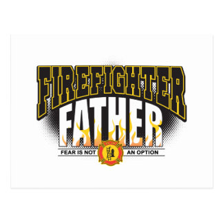 Firefighter Father Postcard