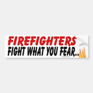 FIREFIGHTER FIGHT CAR BUMPER STICKER