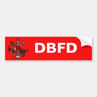 Firefighter Fire and Rescue Department Emblem Bumper Sticker