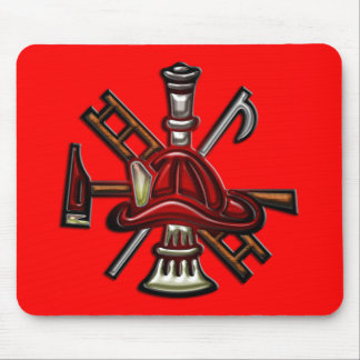 Firefighter Fire and Rescue Department Emblem Mouse Pad