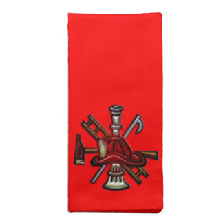 Firefighter Fire and Rescue Department Emblem Napkin