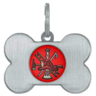 Firefighter Fire and Rescue Department Emblem Pet Tags