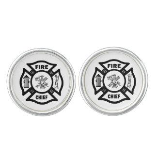 Firefighter Fire Chief Cufflinks