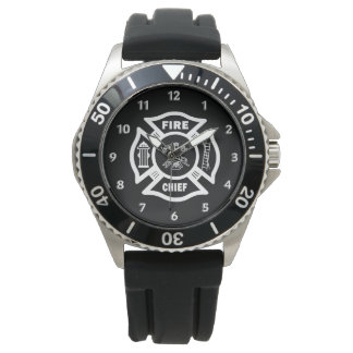 Firefighter Fire Chief Wristwatches