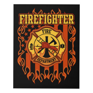 Firefighter Wall Art firefighter panel wall art | zazzle