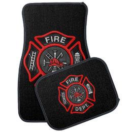 Firefighter/Fire Department Badge Fireman Car Floor Mat