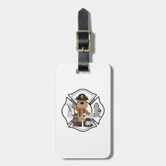Firefighter Fire Department Luggage Tag