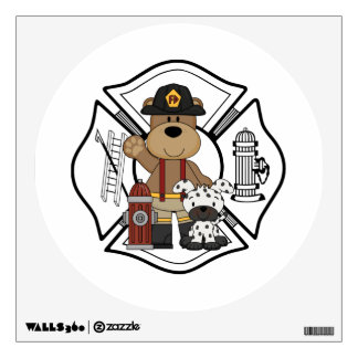 Firefighter Fire Department Wall Stickers
