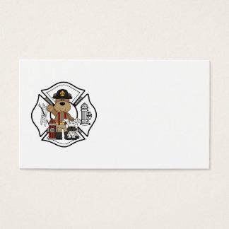 Firefighter Fire Dept Bear Business Card