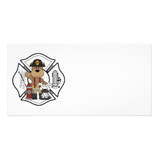 Firefighter Fire Dept Bear Card