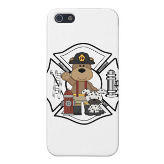 Firefighter Fire Dept Bear iPhone SE/5/5s Cover