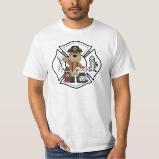 Firefighter Fire Dept Bear T-Shirt