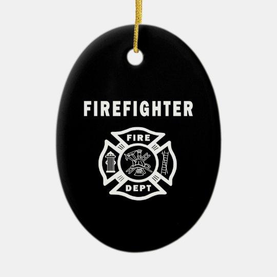 Firefighter Fire Dept Ceramic Ornament