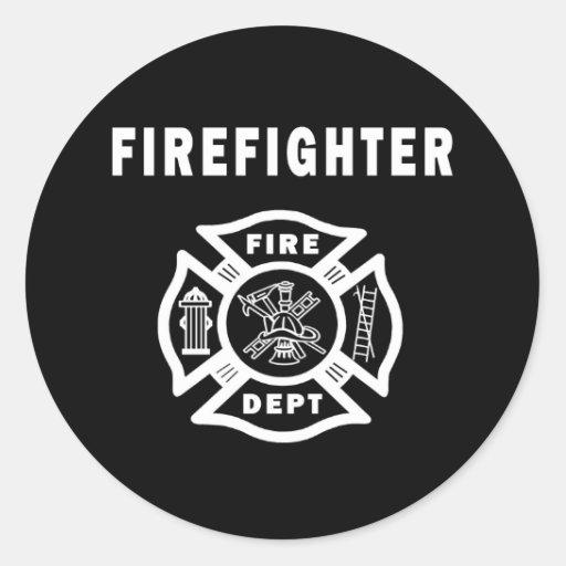 Firefighter Fire Dept Classic Round Sticker