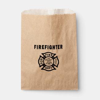 Firefighter Fire Dept Favor Bag
