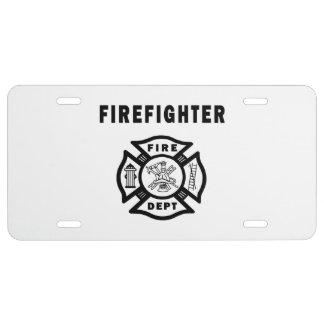 Firefighter Fire Dept License Plate