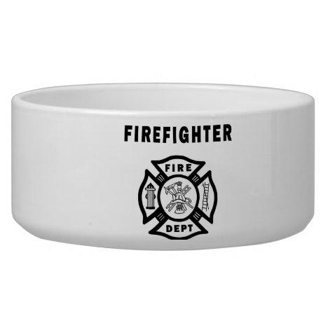 Firefighter Fire Dept Logo Bowl