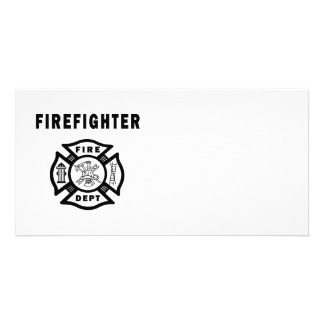 Firefighter Fire Dept Logo Card