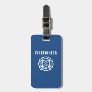 Firefighter Fire Dept Logo Luggage Tag