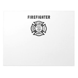 Firefighter Fire Dept Logo Notepad