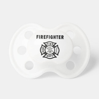 Firefighter Fire Dept Logo Pacifier