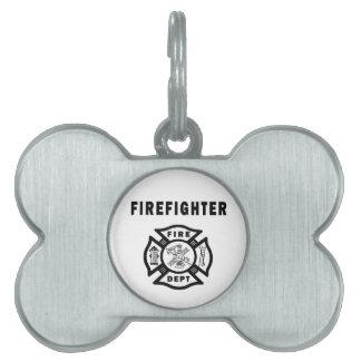Firefighter Fire Dept Logo Pet Tag