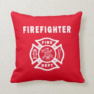 Firefighter Fire Dept Logo Pillow