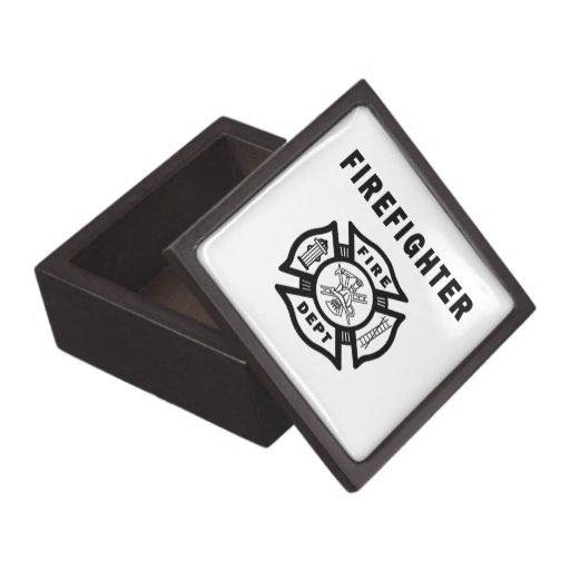 Firefighter Fire Dept Logo Premium Gift Boxes