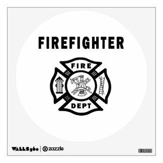 Firefighter Fire Dept Logo Wall Decals
