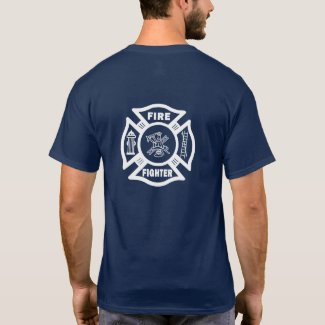 Firefighter Fire Dept Maltese T-Shirt