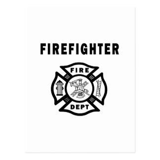 Firefighter Fire Dept Postcard