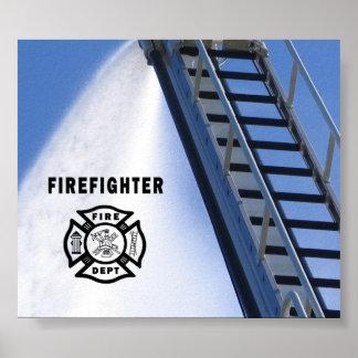 Firefighter Fire Dept Poster
