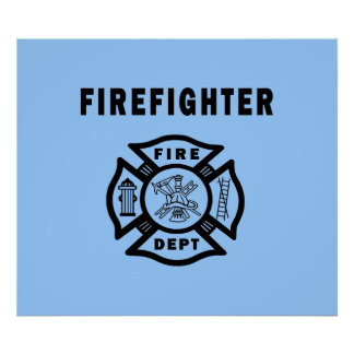 Firefighter Fire Dept Print