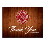 Firefighter / Fire Dept Thank You Postcard at Zazzle