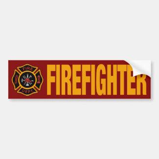 Firefighter Fire Engine Red Bumper Sticker