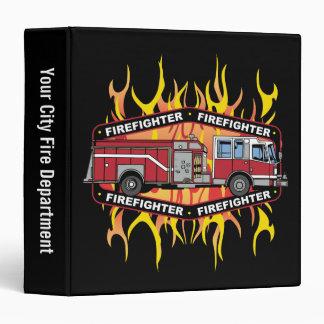 Firefighter Fire Truck 3 Ring Binder