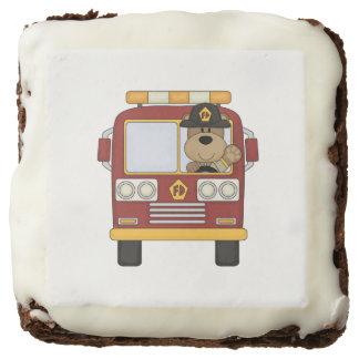 Firefighter Fire Truck Bear Brownie