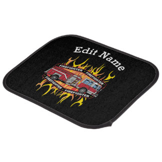 Firefighter Fire Truck Car Mat